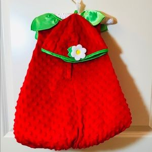 Toddler strawberry Halloween costume